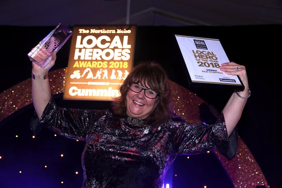 WINNER: Local Hero 2018 winner, Julie Scurfield. Picture: CHRIS BOOTH
