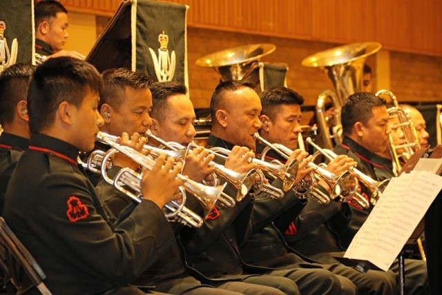FUNDRAISERS: The Band of the Brigade of Gurkhas