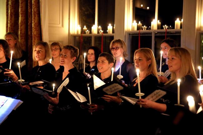 The charity candlelit carol concert at Swinton Park in aid of the Archbishop of York's Youth Trust. Picture: Richard Doughty Photography