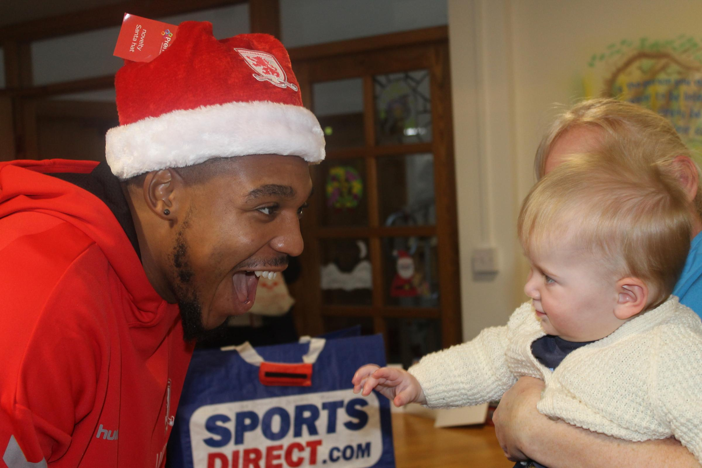 Middlesbrough players visit Butterwick Children's Hospice