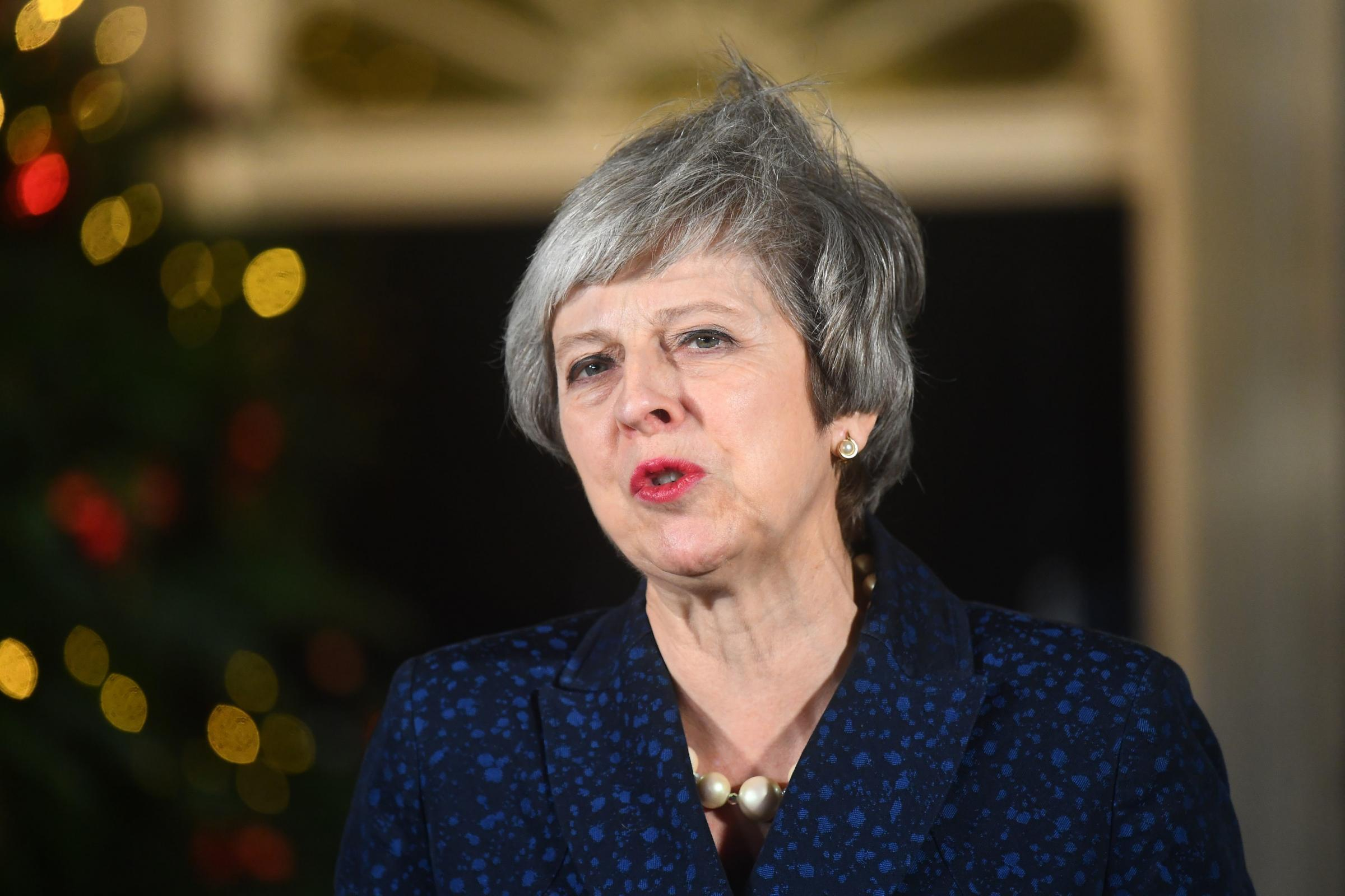 Prime Minister Theresa May makes a statement in 10 Downing Street, London, after she survived an attempt by Tory MPs to oust her with a vote of no confidence. Picture: PA