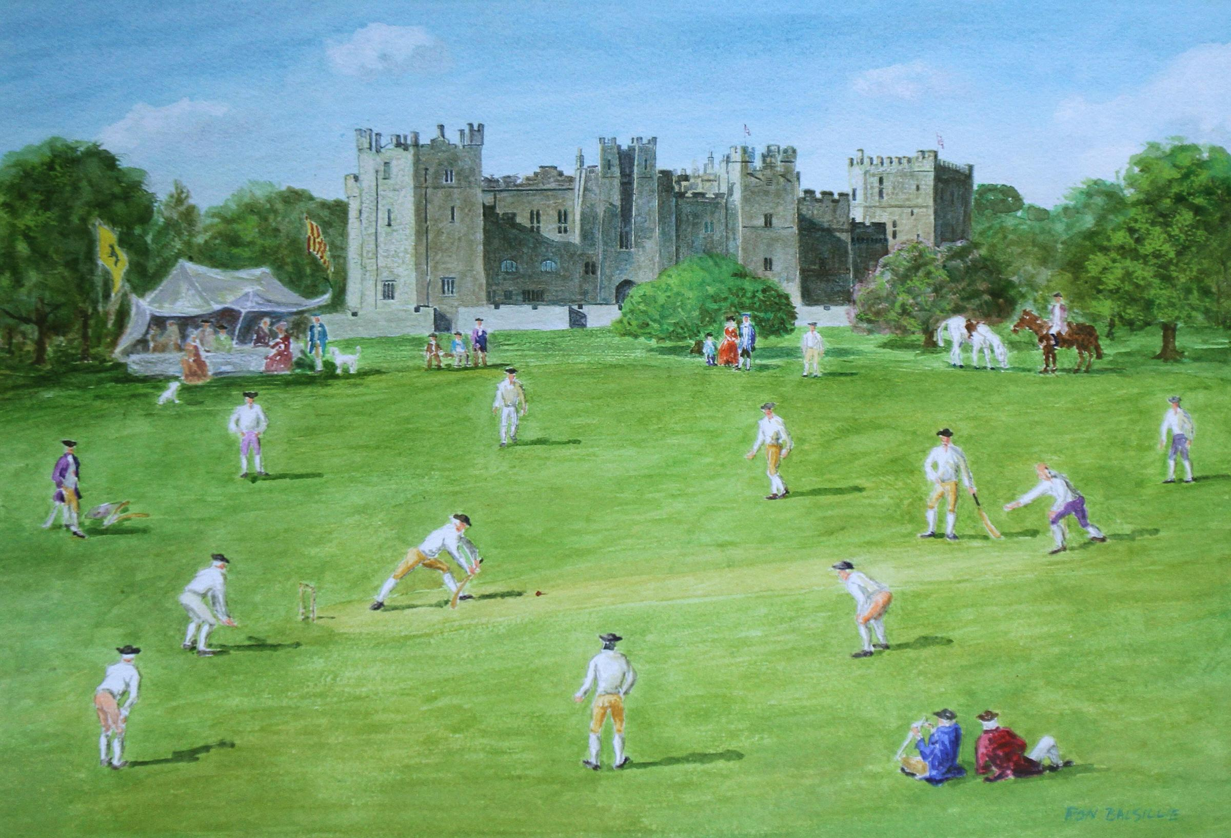 Raby Castle � in 1751 - the cricket scene
