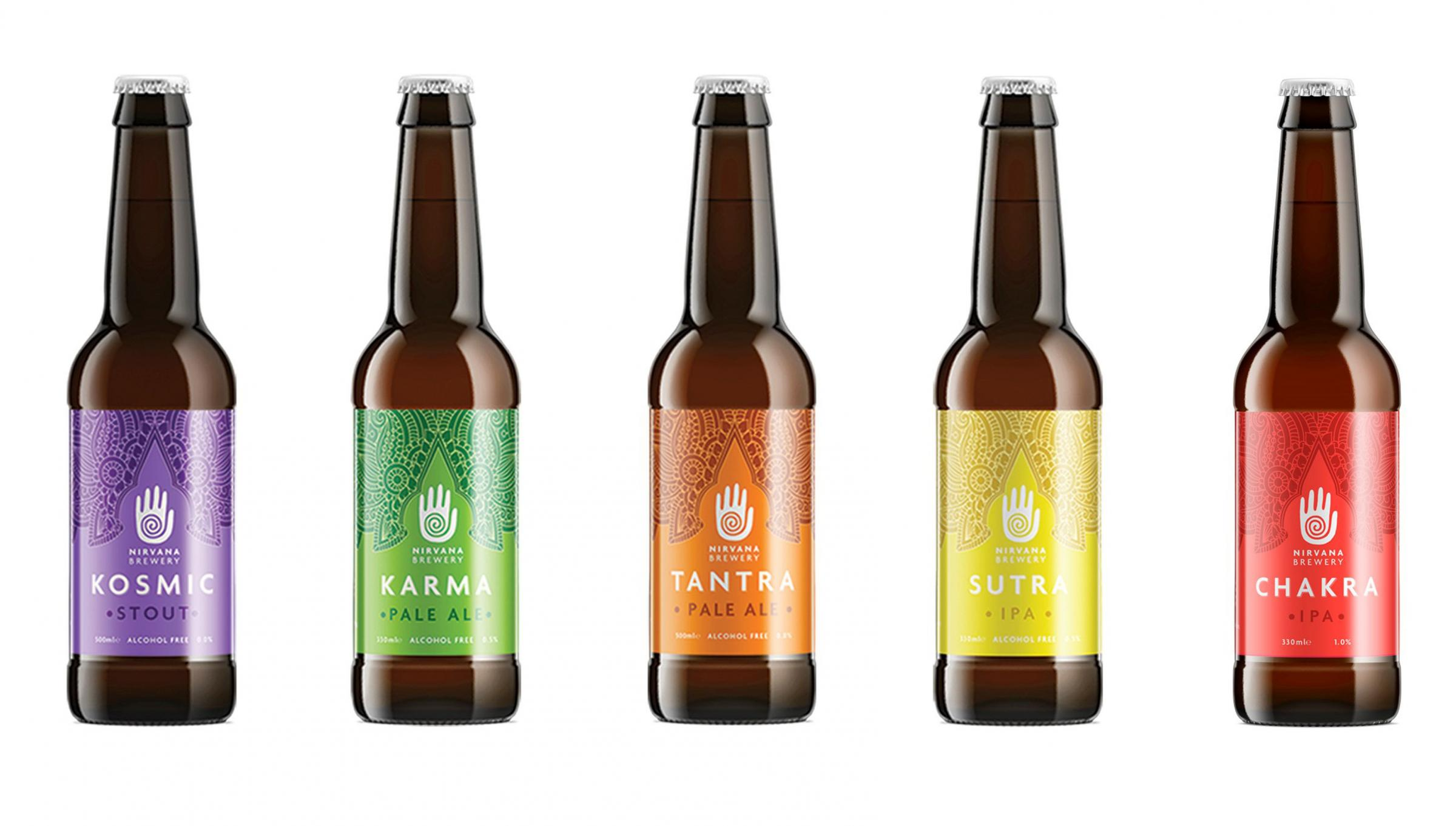 Nirvana Brewery Selection of low and alcohol-free, craft beers