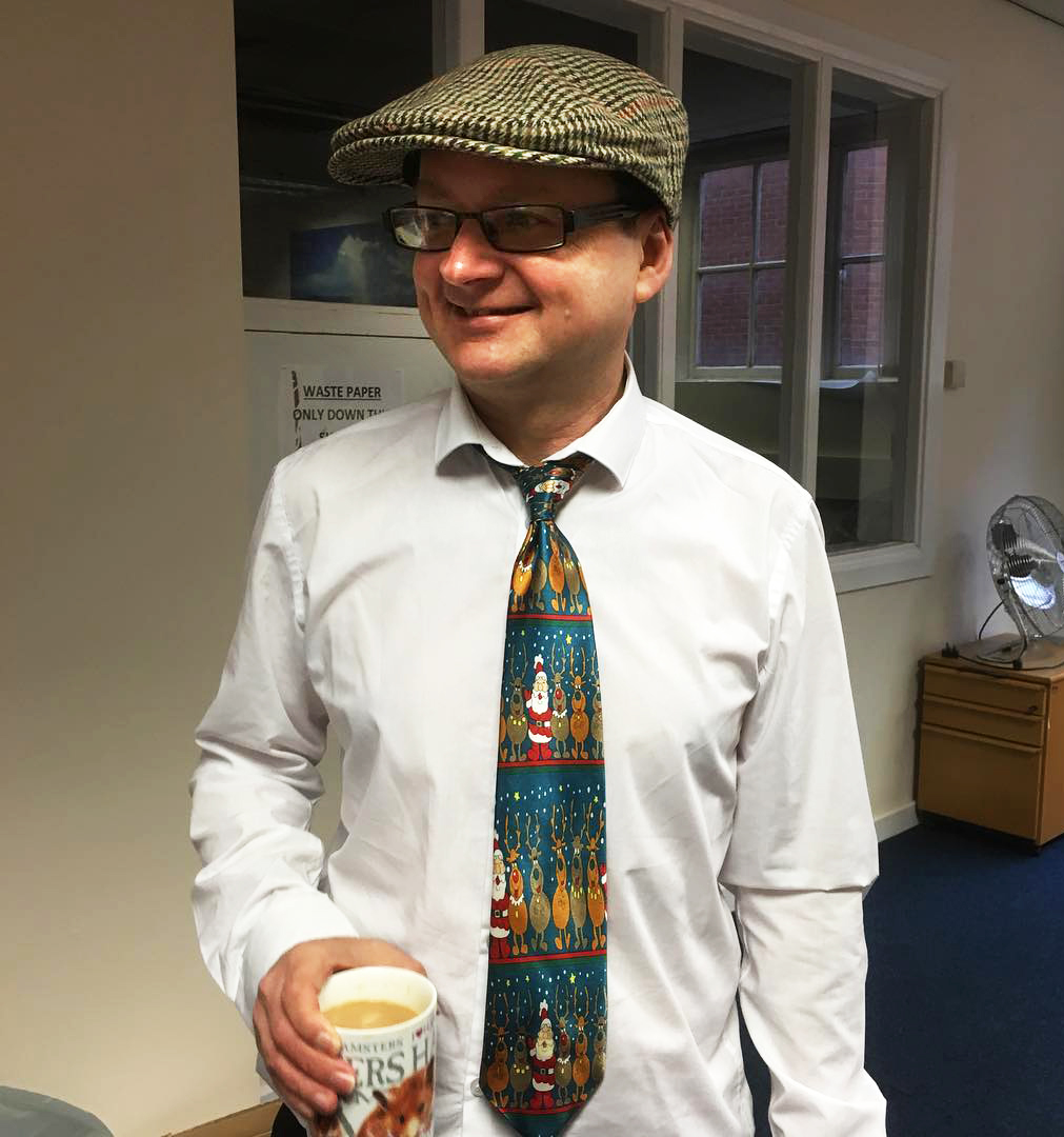 FESTIVE FELLA: The Northern Echo's Andrew White and his tie