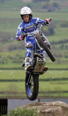 OFF ROAD: Trials rider Jonathan Richardson in action