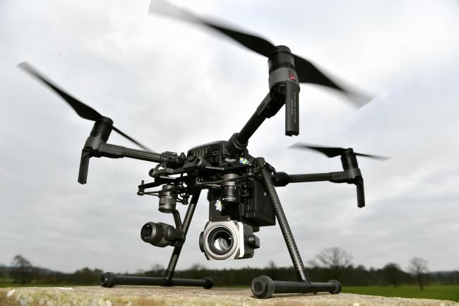 DRONE TESTS: The operation is being carried out at Newcastle International Airport