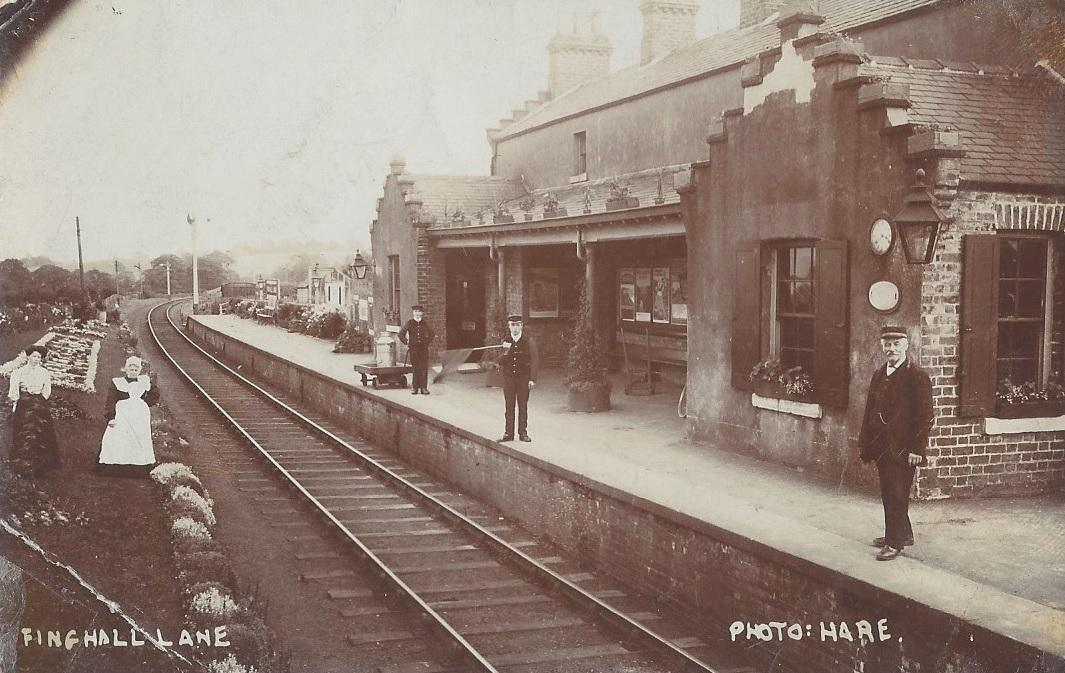 FINGHALL STATION: A photograph from the 1880's, courtesy of Jane Stringer