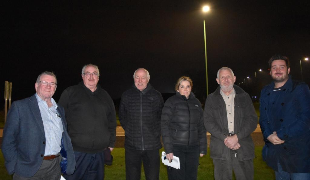 BENEFIT FUND: From left, committee chairman Cllr Ivan Jewell, Andy Plant, Colin Bell, Fiona Maddick, David Marrs and Lewis Stokes of The Banks Group