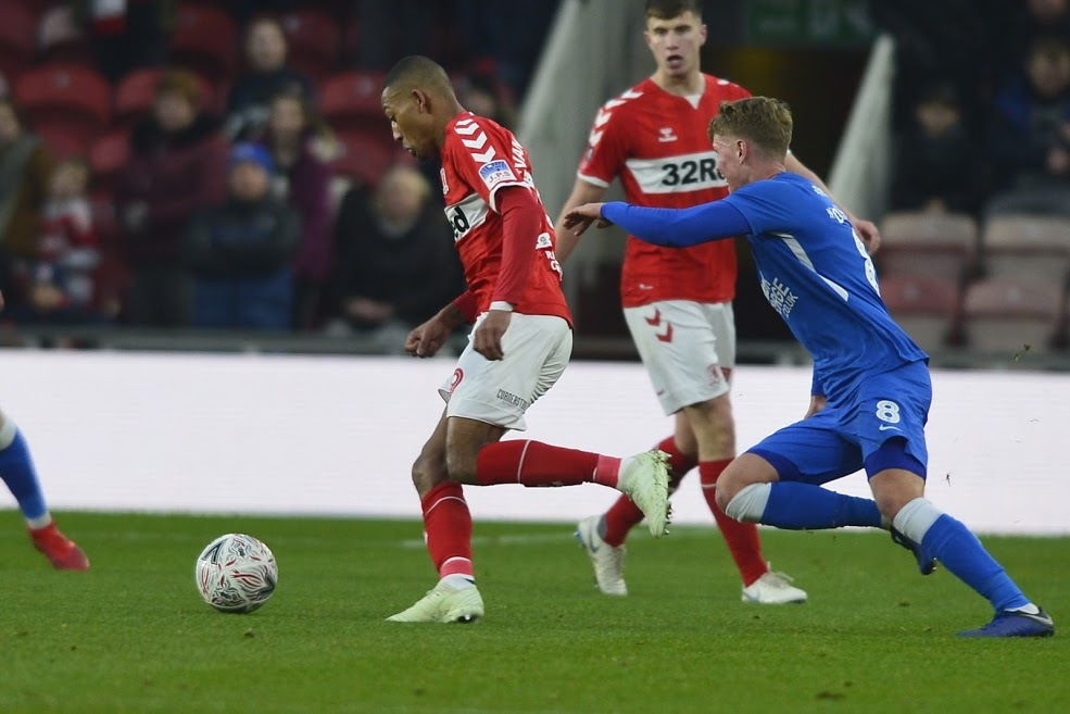 Boro's Rajiv van la Parra on the attack. Picture: MI News and Sport