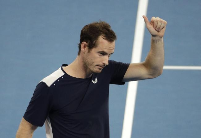 Britain's Andy Murray waves to the crowd after his first round loss to Spain's Roberto Bautista Agut at the Australian Open. Picture: AP