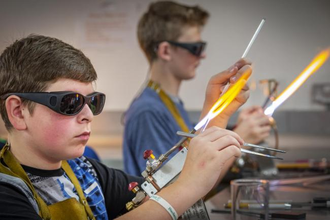 Students learn glass and ceramics design skills at