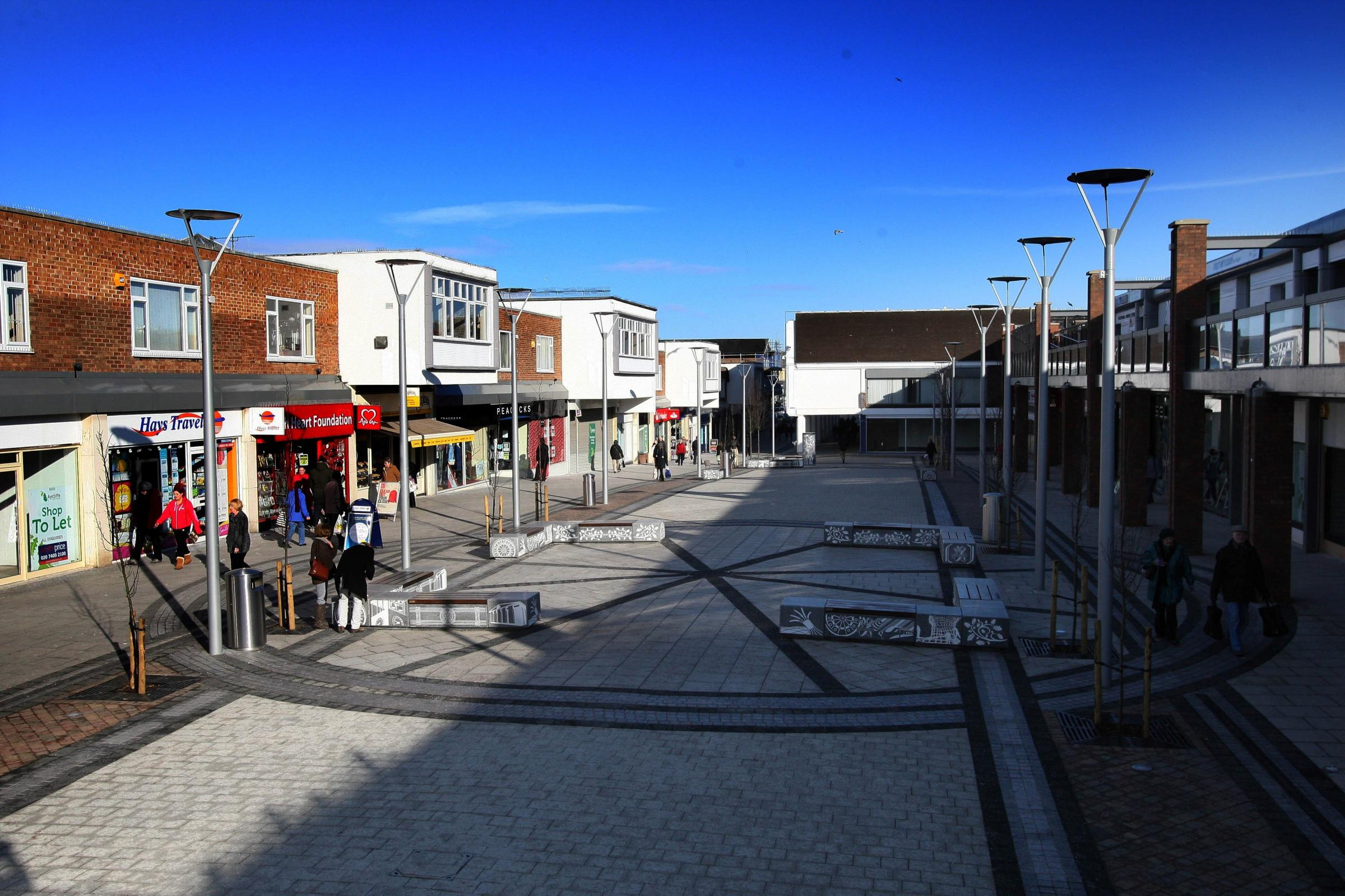 BAN: Newton Aycliffe town centre Picture: TOM BANKS