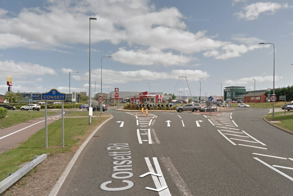 CAR SEIZED: The Fiesta was allegedly involved in antisocial behaviour in Consett centre and retail parks Picture: GOOGLE