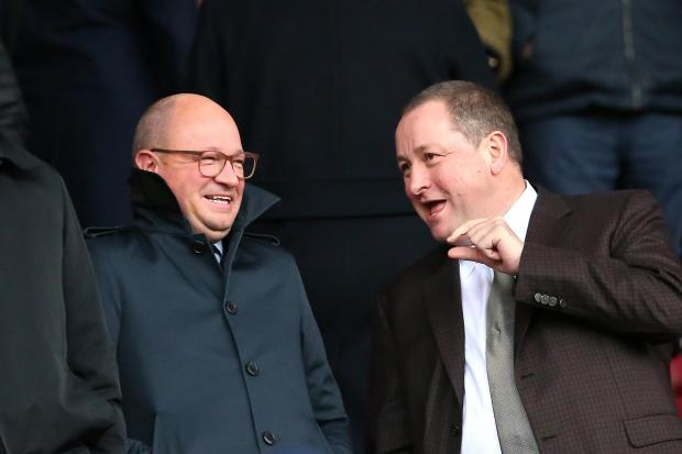 The Northern Echo: Newcastle owner Mike Ashley (right) with managing director Lee Charnley