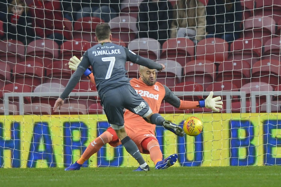 ON TARGET: Jed Wallace beats Darren Randolph to open the scoring (Picture: Tom Collins/MI News & Sport)