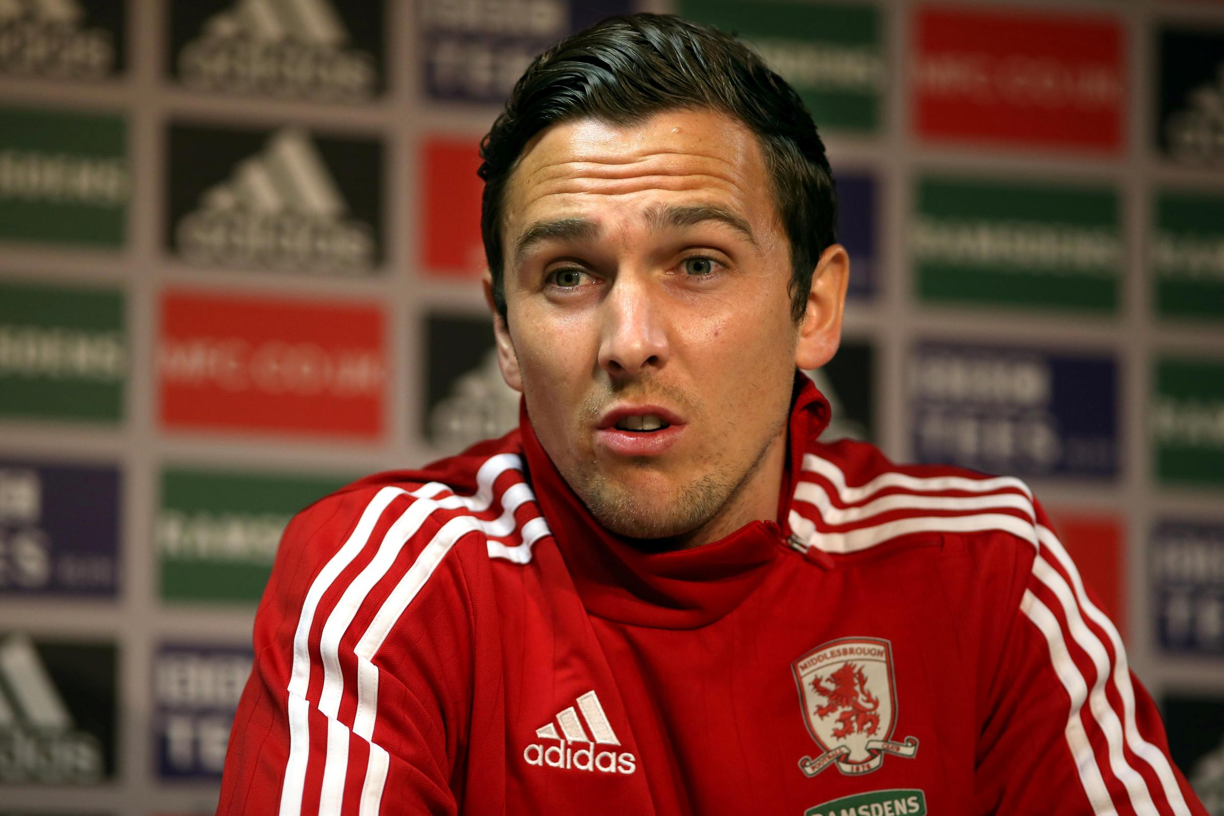 UNCERTAIN FUTURE: Middlesbrough midfielder Stewart Downing