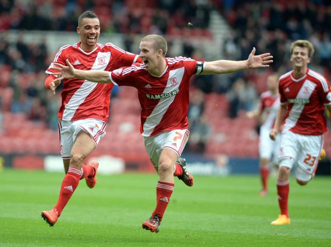 Boro's Grant Leadbitter celebrates. He is set to leave the club for Sunderland. Picture: PA