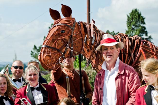 Michael Morpurgo in Devon, where the story was first conceived  Picture: Rosie Anderson