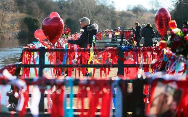 The Northern Echo: Hundreds of ribbons tied to railings in memory of Luke Jobson