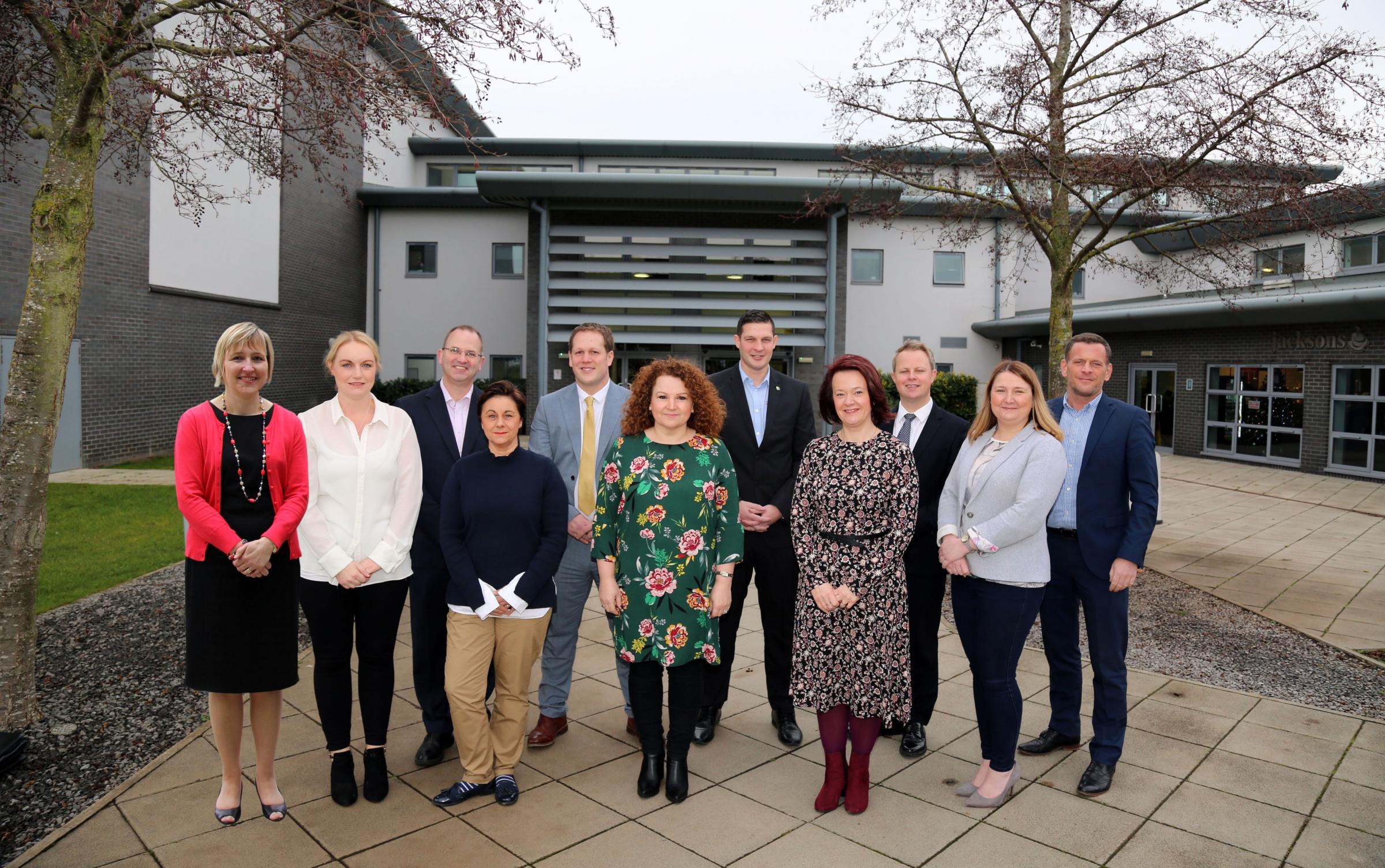 LINE UP: Aycliffe Business Park Community board, Sarah Slaven, Lisa Fleming, James Goodliffe, Lee Harris, Kerina Clark, Stephen Gosnay, Pamela Petty, Ben Healey, Sharon Hutchinson and Martin Walker