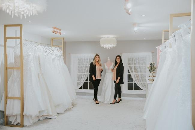 GRAND OPENING: Joanne Holmes and Sophie Rispin in the Sophia-Jo Boutique