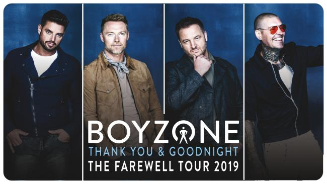 Boyzone is playing its Thank you and Goodnight tour