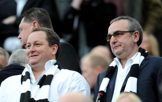 DELIVERING THE BLUEPRINT: Mike Ashley and Derek Llambias
