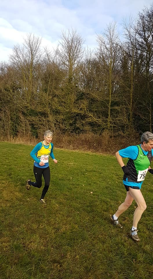 Jill Libby at the Ormesby Hall cross country event