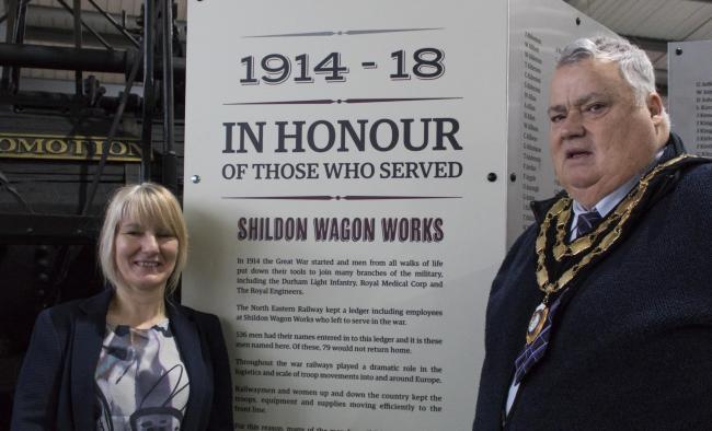 New memorial remembers Shildon rail works men's war efforts