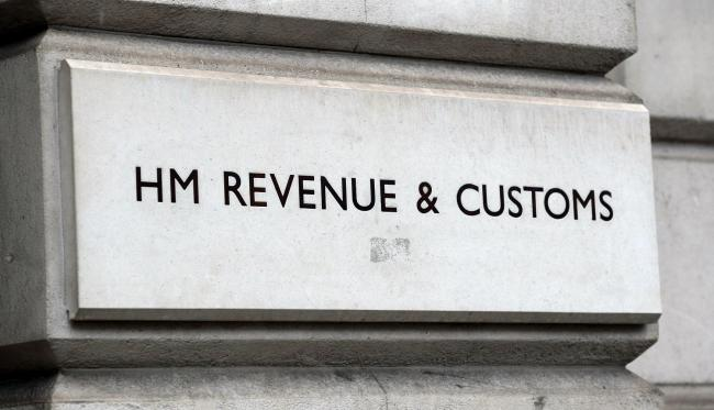 A HM Revenue and Customs (HMRC) sign. Picture: Kirsty O'Connor/PA Wire