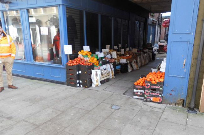 STREET TRADING: Ferguson's stall Picture: DURHAM COUNTY COUNCIL