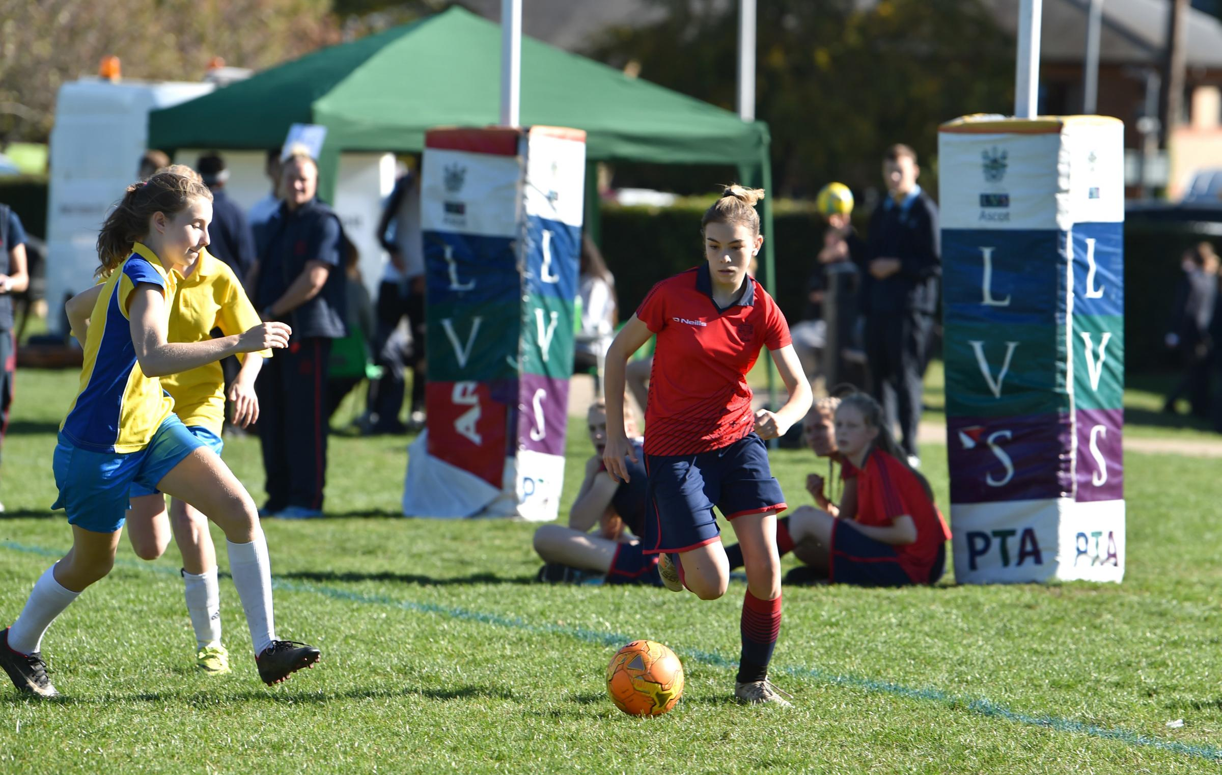 CALL UP: Lily Patrick playing at the finals of the ISA National Football Festival Picture: SIMON DACK