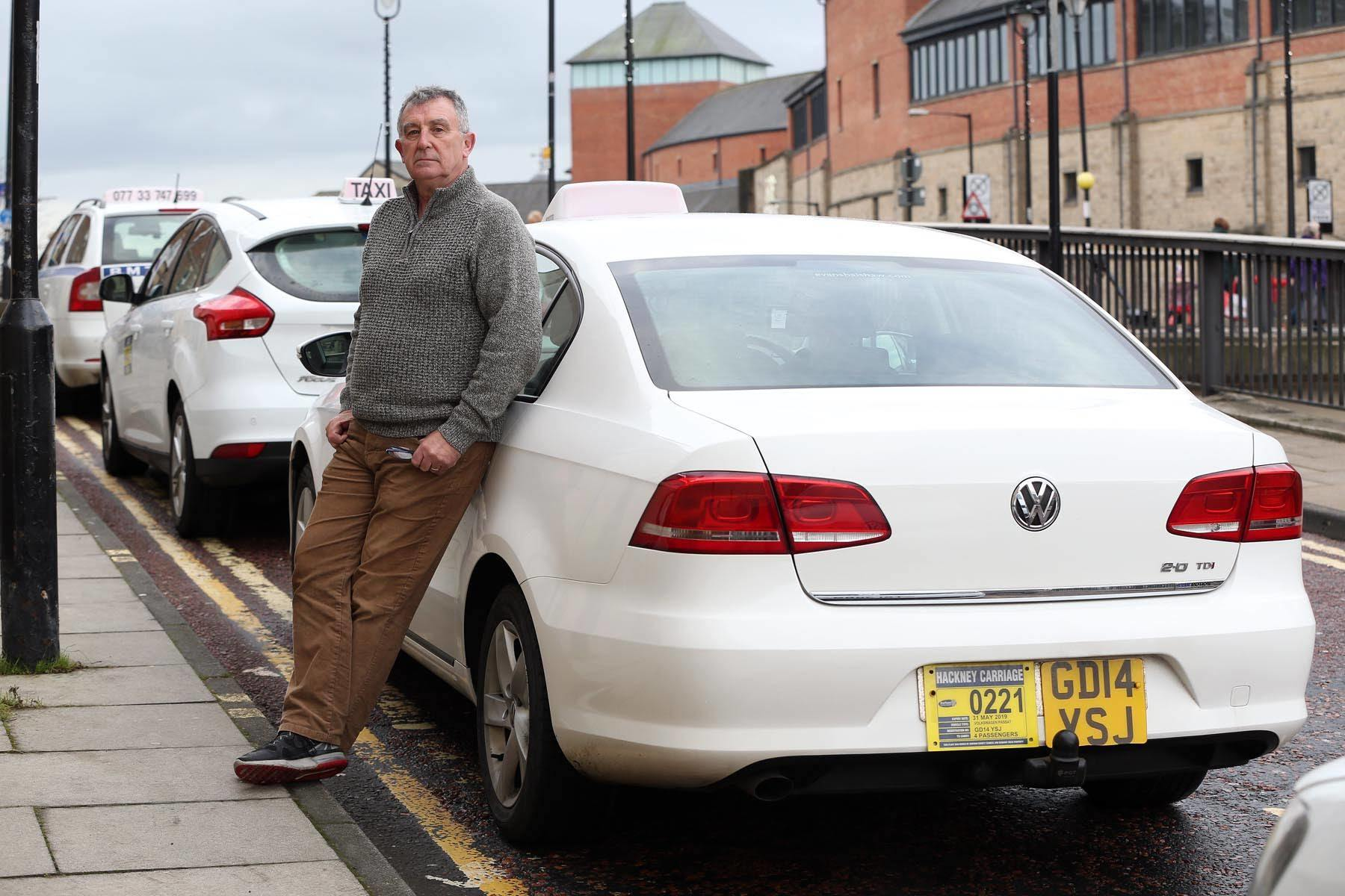 Taxi driver Neville Forbes is unhappy about the way Durham County Council awards its education contracts 			       Picture: CHRIS BOOTH