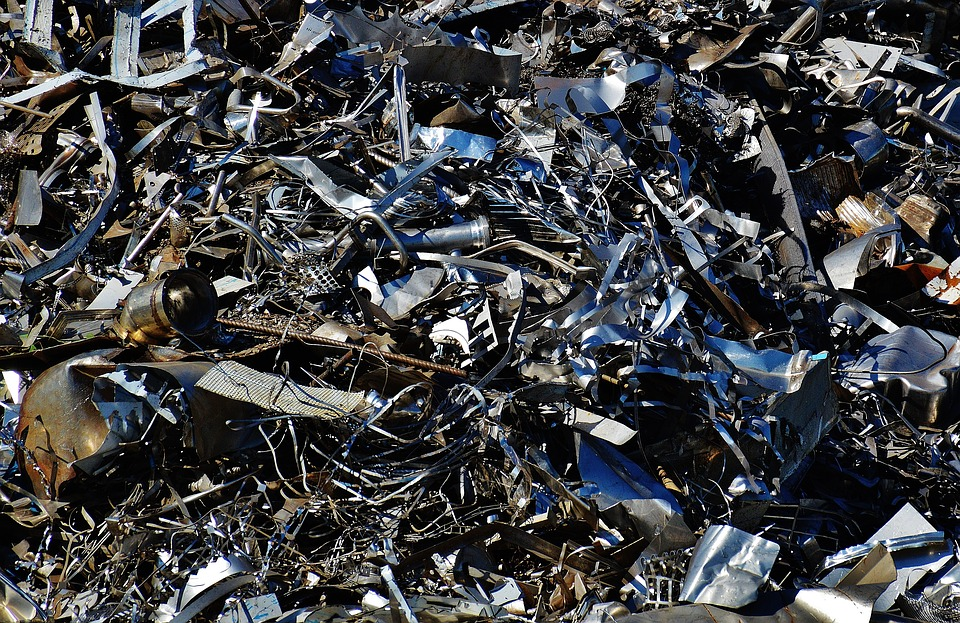 ARRESTS MADE: Police investigating a spate of metal thefts arrested five men and seized two vans. A file picture of scrap metal. Picture: Pixabay