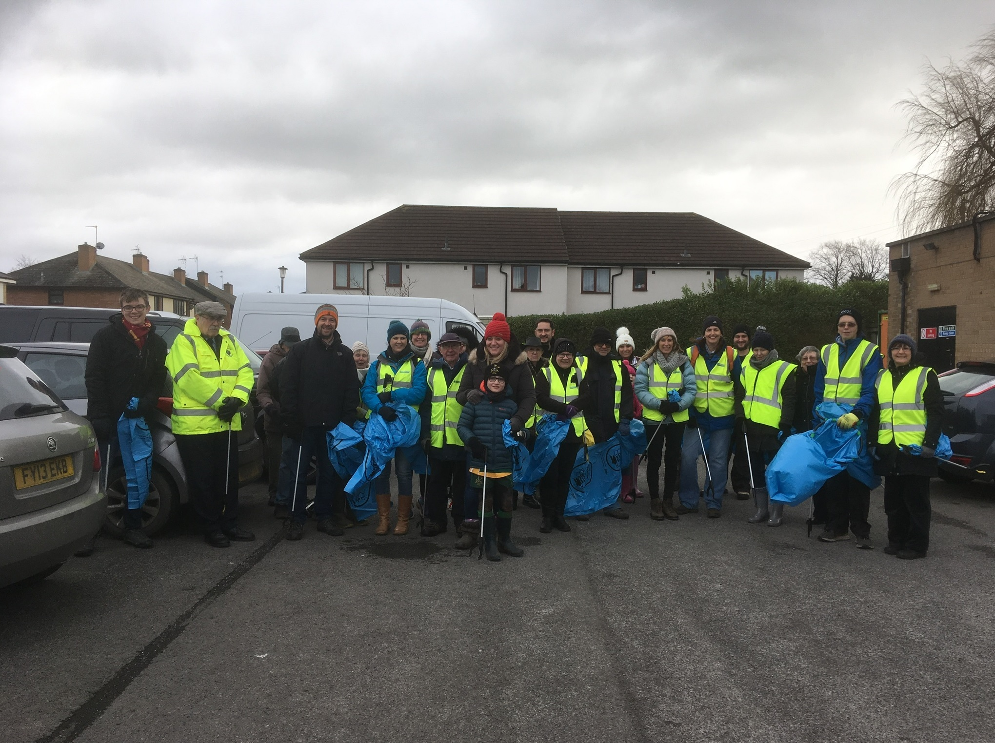 TIDY: The Wombles of Hambleton have collected more than 100 bags of rubbish in January alone