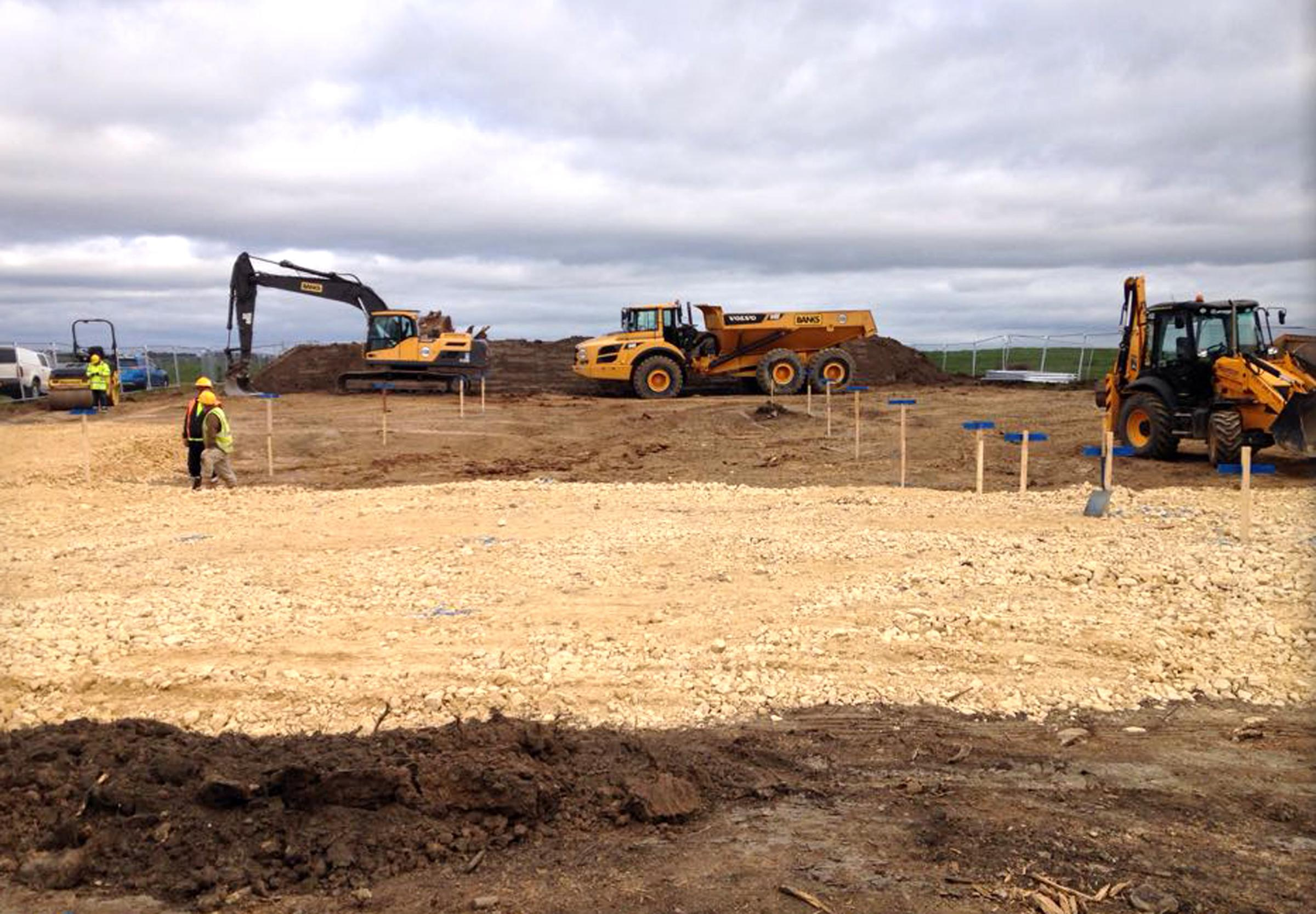 OPENCAST SITE: Test blasting is about to start at the Bradley site, between Dipton and Leadgate