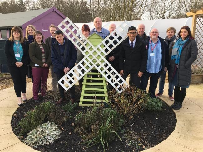 RELAUNCH: Richmondshire MP Rishi Sunak attends the relaunch of the Skill Mill service at Northdale Horticulture with team members and supporters