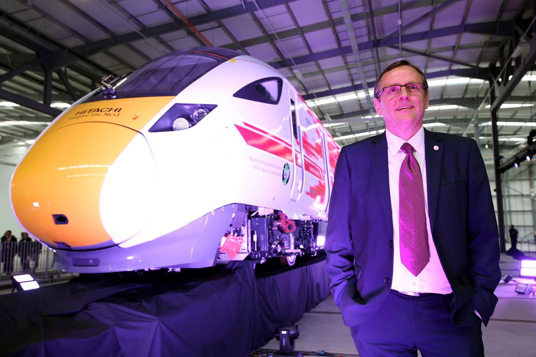 Sedgefield constituency MP Phil Wilson at the opening of the Hitachi Rail Europe plant at Newton Aycliffe. Picture: CHRIS BOOTH