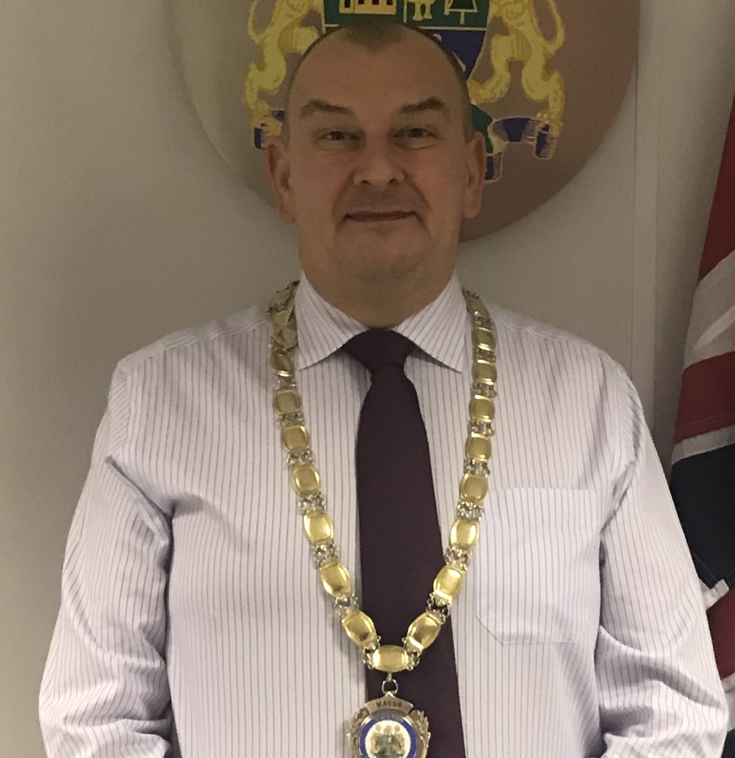 NEW MAYOR: Chilton Mayor Councillor Michael Young