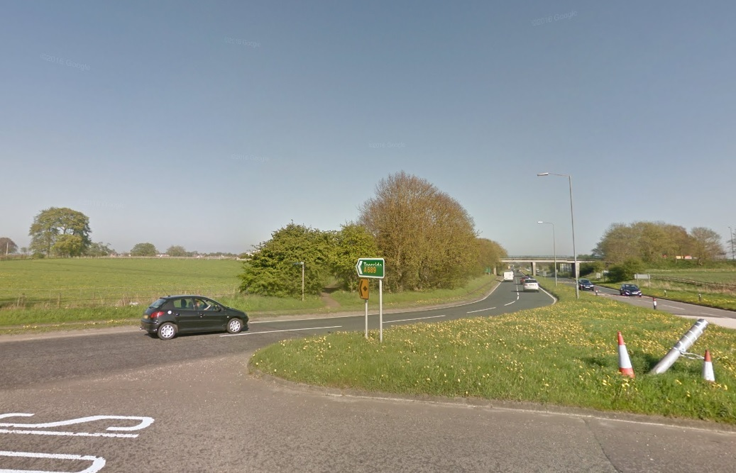 FILLING STATION: BP are consulting on building a petrol station off the A689 and A177 roundabout at Sedgefield Picture: GOOGLE