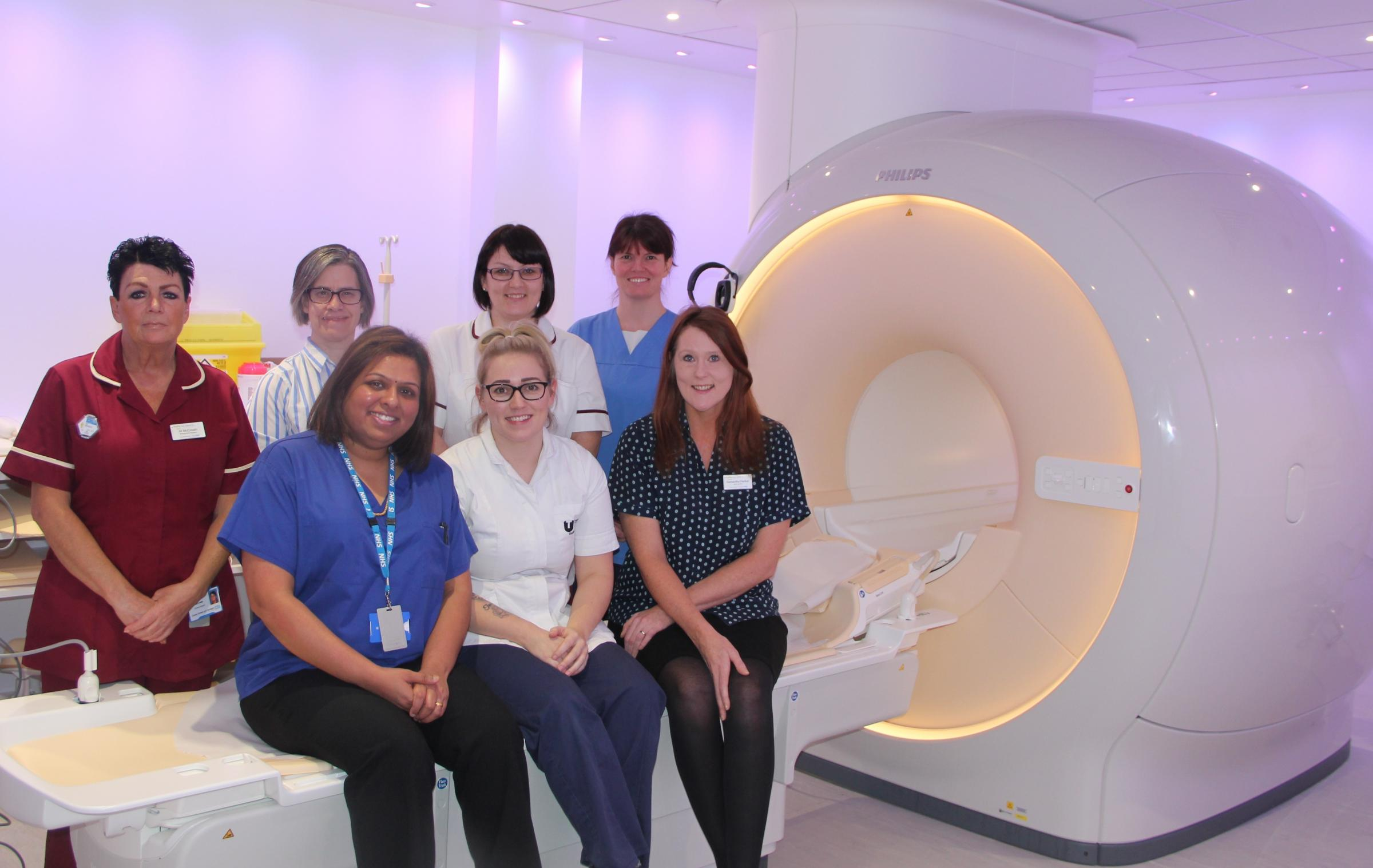 The MRI team at the end of a two-year appeal for funding