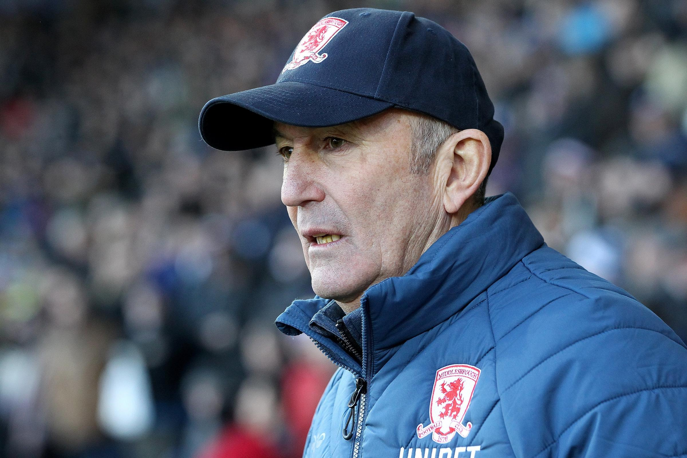 'SORTED THINGS OUT': Middlesbrough manager Tony Pulis