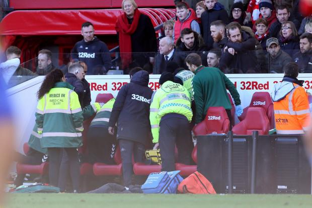 Leeds player Jack Clarke 'responsive' after being taken to hospital during Boro game
