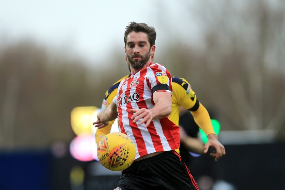 OXFORD, UK.  Will Grigg of Sunderland during the Sky Bet League 1 match between Oxford United and Sunderland at the Kassam Stadium, Oxford on Saturday 9th February 2019. (Credit: Leila Coker | MI News )