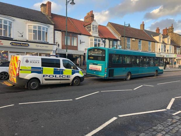 Police and paramedics boarded the bus in Guisborough. Picture: Karen Westcott