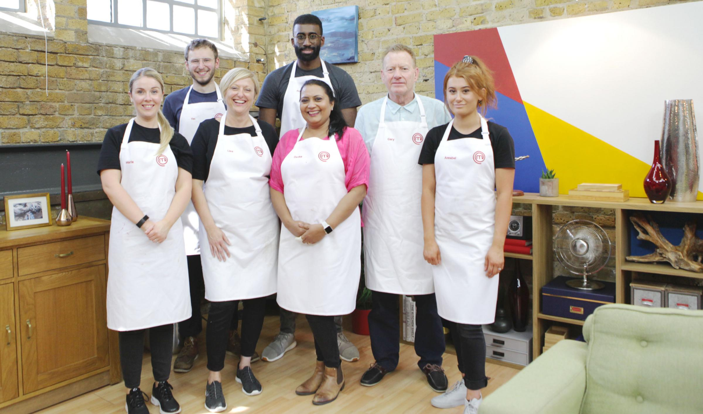 Annabel, far right, and the rest of the Masterchef contestants. Picture: BBC