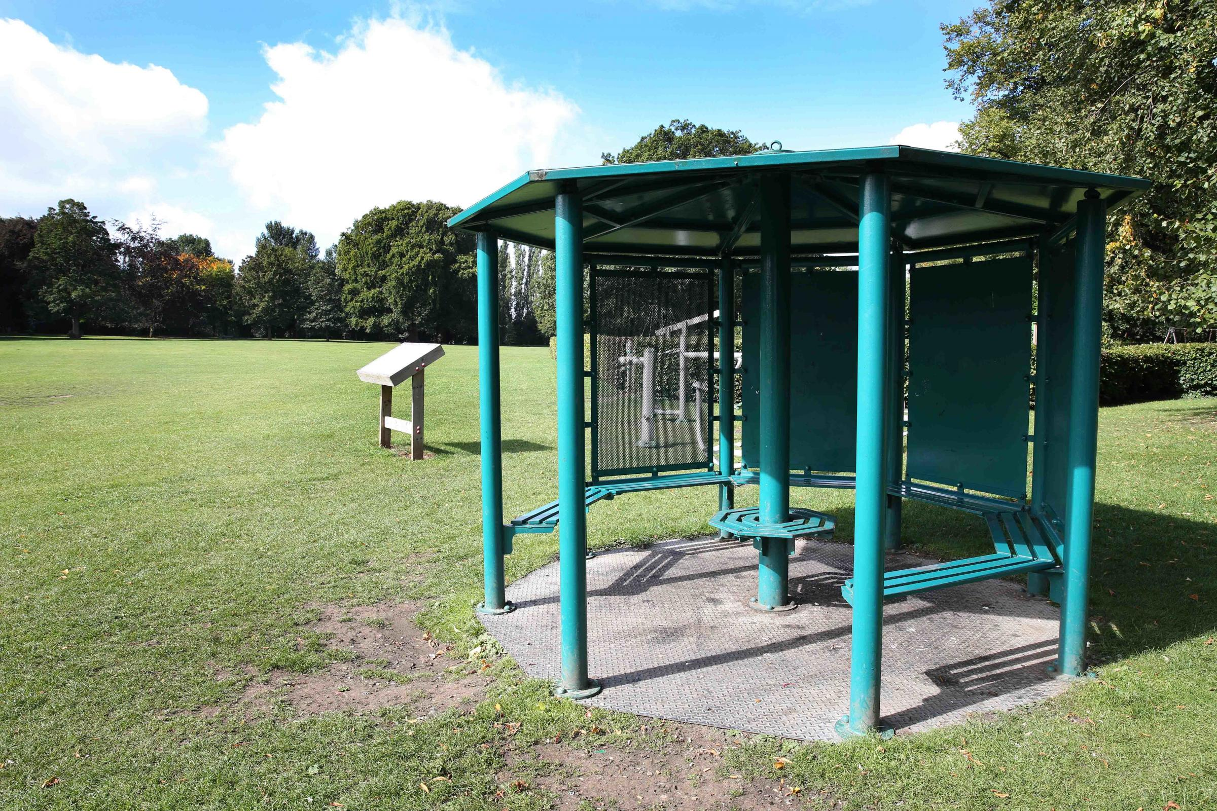 BEDALE:The shelter in Bedale park where there has been anti-social behaviour. Picture: Richard Doughty Photography