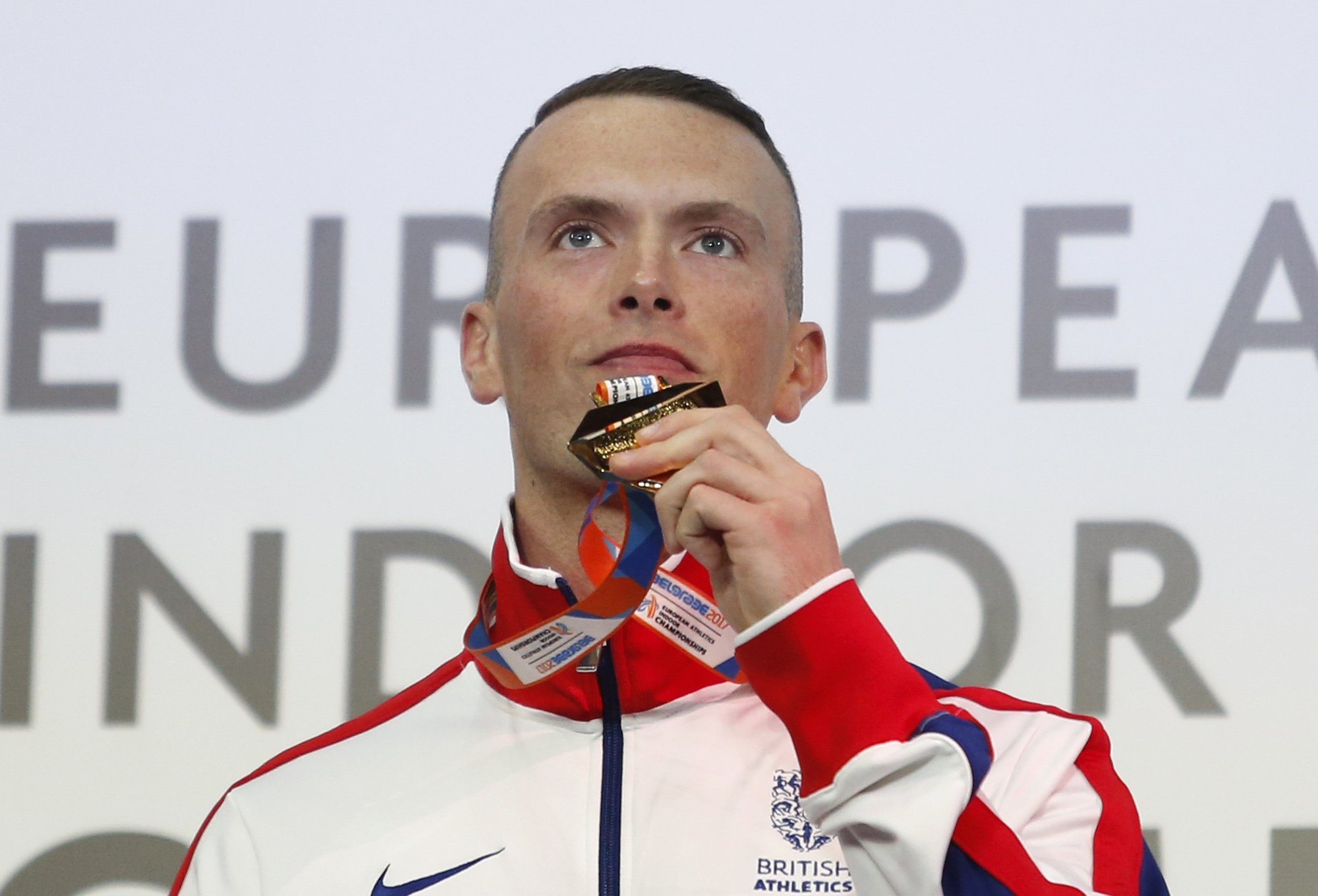 START LINE: Richard Kilty will defend his European Indoor 60m title after event organisers effectively over-ruled UK Athletics' decision not to name him on their team