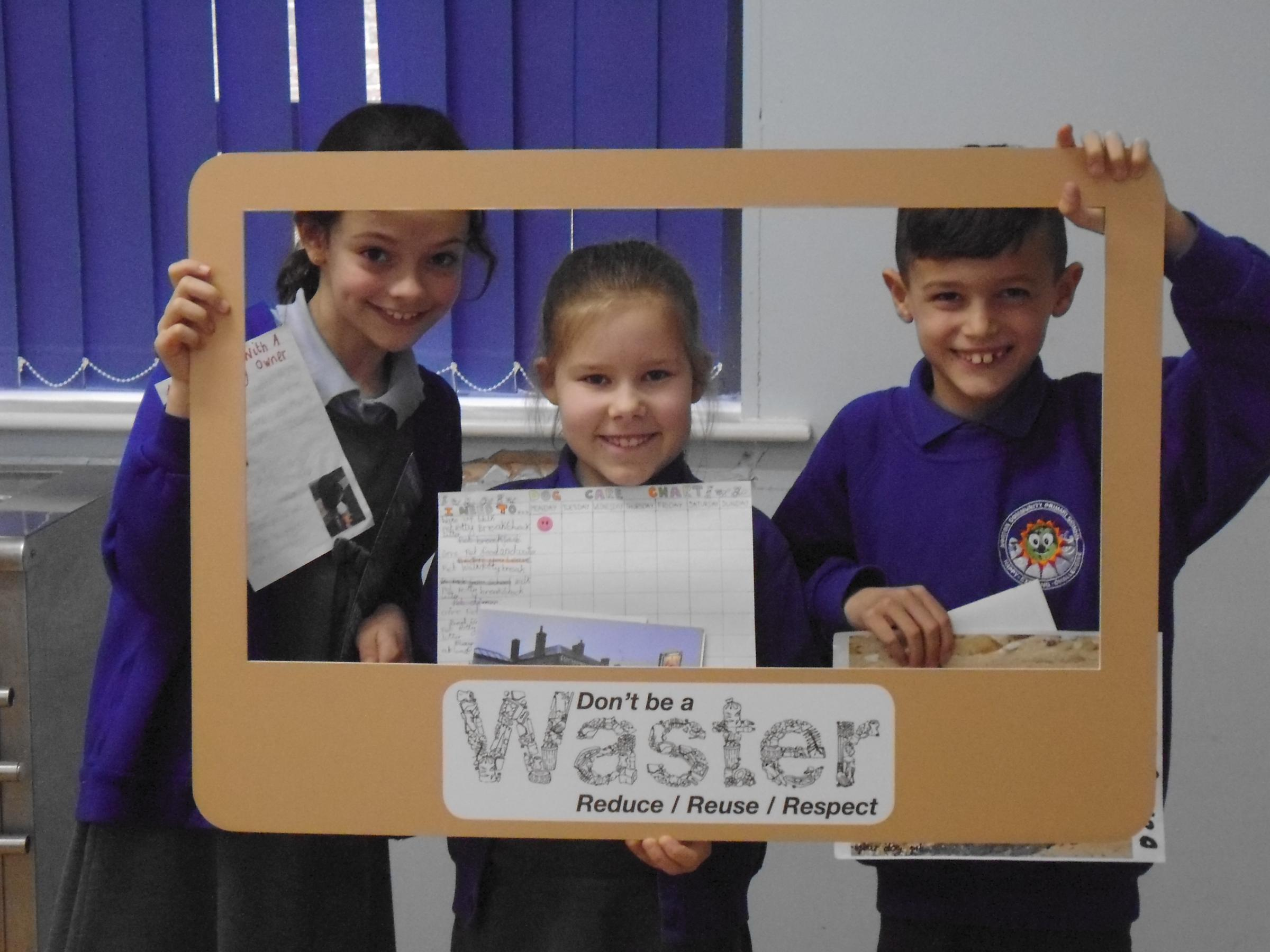 REDUCED WASTE: Young children praised for their efforts