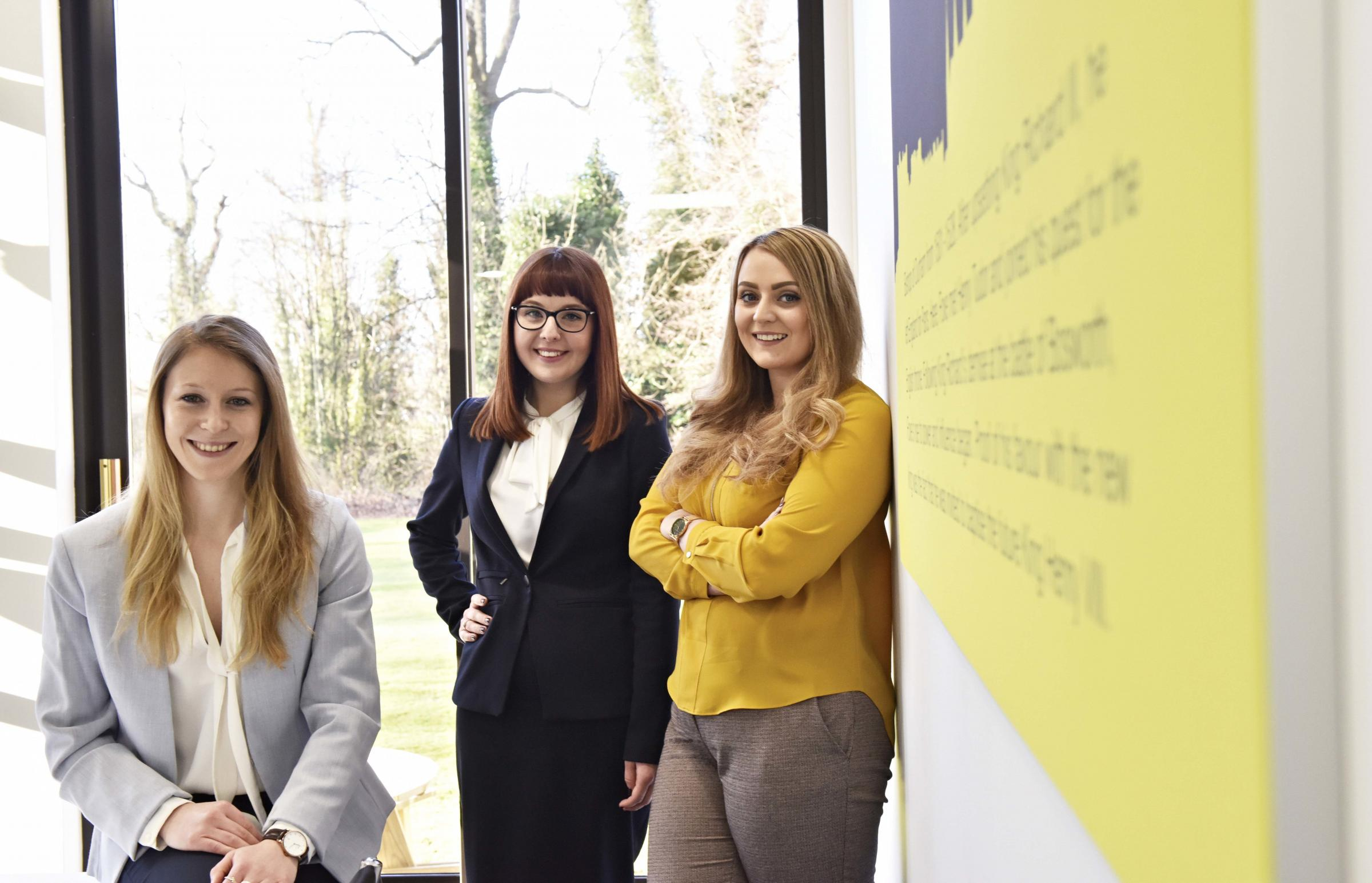 NEW STAFF: The growing team at Swinburne Maddison. Pictured, from left, Lauren Frisby, Sophie Allerton and Sara Stammers